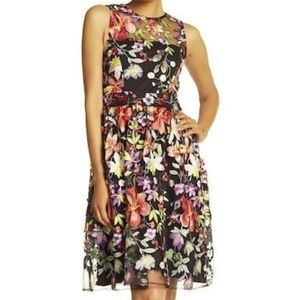 Alexia Admor Embroidered Fit & Flare Dress NWT